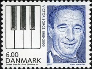 A Danish stamp featuring Victor Borge