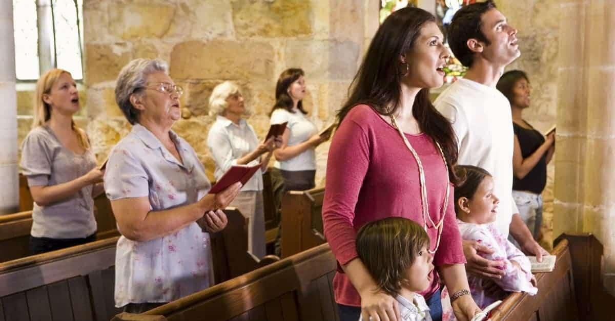 Singing in church